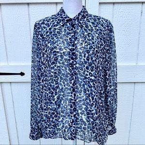 Jones NY Leopard Blouse